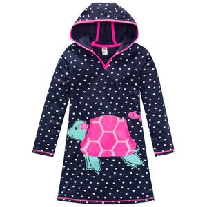 Mädchen Frottee-Kleid mit Schildkröten-Motiv