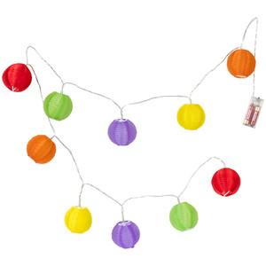 LED-Lichterkette mit 10 Lampions