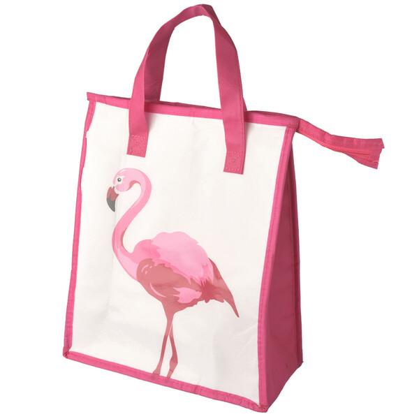 Kühltasche Flamingo 32 x 27 x 13 cm weiß-pink