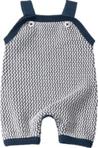 ALANA Baby-Spieler, Gr. 56, in Bio-Baumwolle, blau, weiß, für Mädchen und Jungen