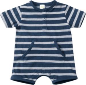 ALANA Baby-Spieler, Gr. 68, in Bio-Baumwolle, blau, weiß, für Mädchen und Jungen