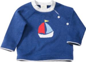 ALANA Baby-Pullover, Gr. 62, in Bio-Baumwolle, blau, für Mädchen und Jungen
