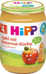 Hipp Frucht & Gemüse Apfel-Butternut-Kürbis nach dem 4. Monat