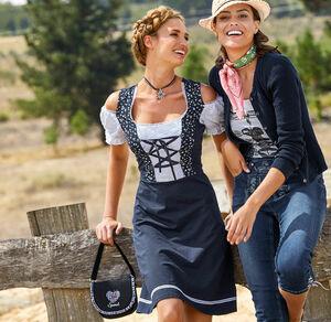 Laura Torelli COLLECTION Damen-Trachtenkleid mit Schnürung