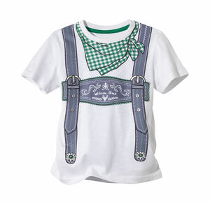 Kids Jungen-Trachten-T-Shirt mit Hosenträger-Druck