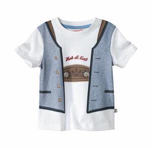 Liegelind Baby-Jungen-Trachten-T-Shirt mit Westen-Druck
