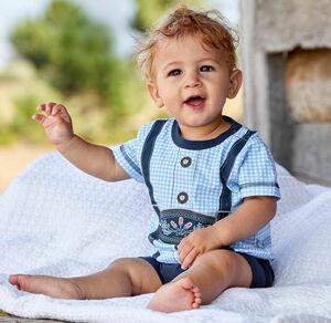 Liegelind Baby-Jungen-Trachten-Strampler in Lederhosen-Optik