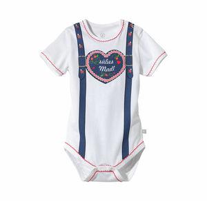 Liegelind Baby-Mädchen-Trachten-Body mit Herz-Aufdruck