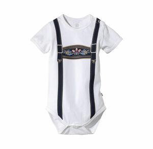Liegelind Baby-Jungen-Trachten-Body mit Hosenträger-Druck
