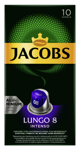Jacobs Lungo 8 Intenso Kaffeekapseln 10x 5,2 g