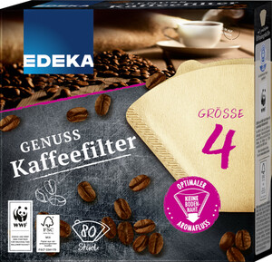 EDEKA Unsere besten Kaffeefilter Größe 4 80 Stk