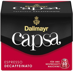 Dallmayr Capsa Espresso Decaffeinato Intensität 6 10x 5,6 g