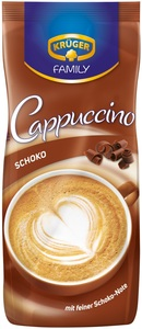 Krüger Family Cappuccino Schoko im Nachfüllbeutel 500 g