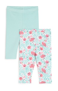 Flamingo-Leggings f. Babys (M), 2er-Pack