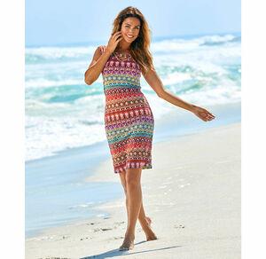 Laura Torelli Classic Damen-Kleid mit schicken Zierbändern