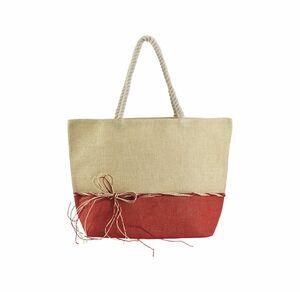 Damen-Strandtasche mit Zierband