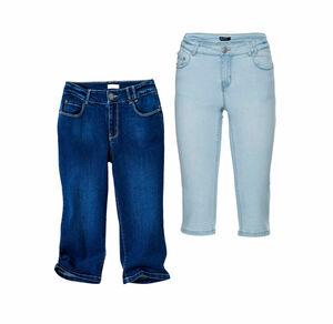Laura Torelli COLLECTION Damen-Caprihose im Jeans-Look