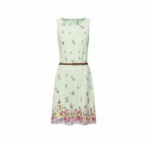 Laura Torelli COLLECTION Damen-Kleid mit geflochtenem Gürtel