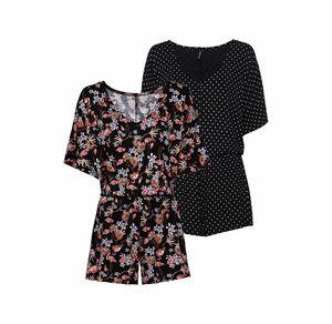 Laura Torelli Young Fashion Damen-Jumpsuit mit elastischem Bund
