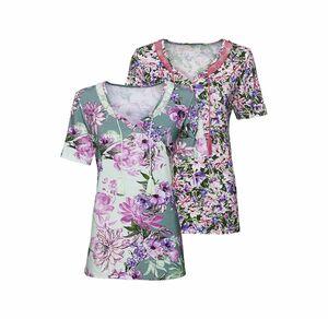 Laura Torelli Classic Damen-T-Shirt mit Spitzenverzierung
