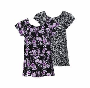 Laura Torelli COLLECTION Damen-T-Shirt mit floralem Muster