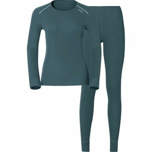 Odlo            Damen Funktionsshirt/-hose Set Warm grau