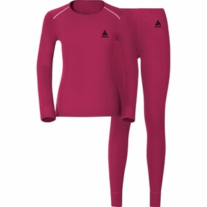 Odlo            Damen Funktionsshirt/-hose Set Warm fuchsia