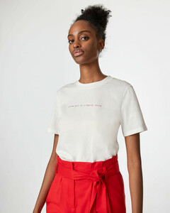 T-Shirt mit Mini-Schriftzug