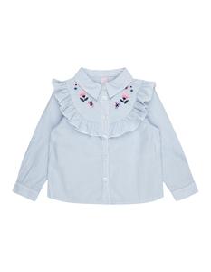 Baby Bluse mit Blüten-Stickereien