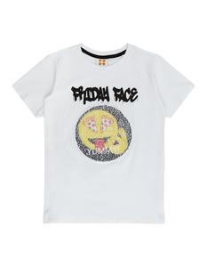 Jungen T-Shirt mit Emoji Wende-Pailletten