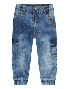 Baby Acid Washed Cargo Jeans