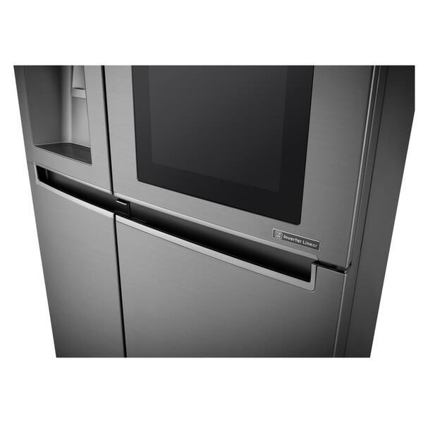 lg side by side gsi 961 pzaz k hlschrank steel instaview door in door wifi a