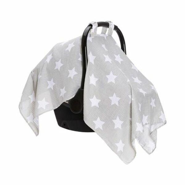 Fillikid   Schlummertuch für Babyschale grau/Sterne