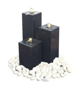 Dehner Granit-Gartenbrunnen Pillar, ca. B56/H77/T56 cm
