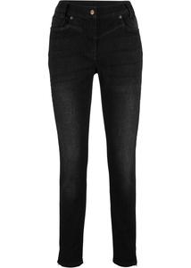 Skinny-Jeans mit Elastik-Einsätzen am Bund und Waschung