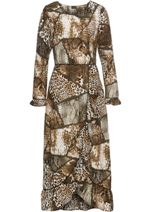 Kleid mit Allover-Animalprint