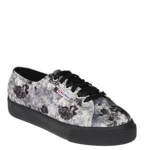 SUPERGA             Sneaker, Plateau, florales Design, Schnürung