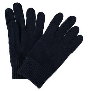 CALVIN KLEIN             Handschuhe, Kaschmir-Anteil, Strick, Logo-Patch, Rippenbund