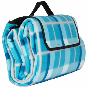 Home Ideas Seasons Camping- und Picknickdecke XXL, Karo blau