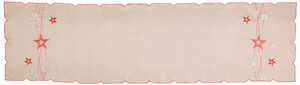 Home Ideas Tischläufer Sterne, 40 x 150 cm