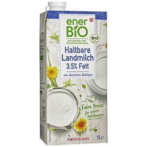 enerBiO haltbare Landmilch 3,5% Fett