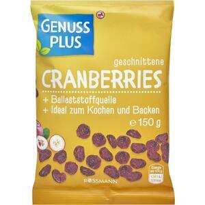 GENUSS PLUS geschnittene Cranberries 0.86 EUR/100 g