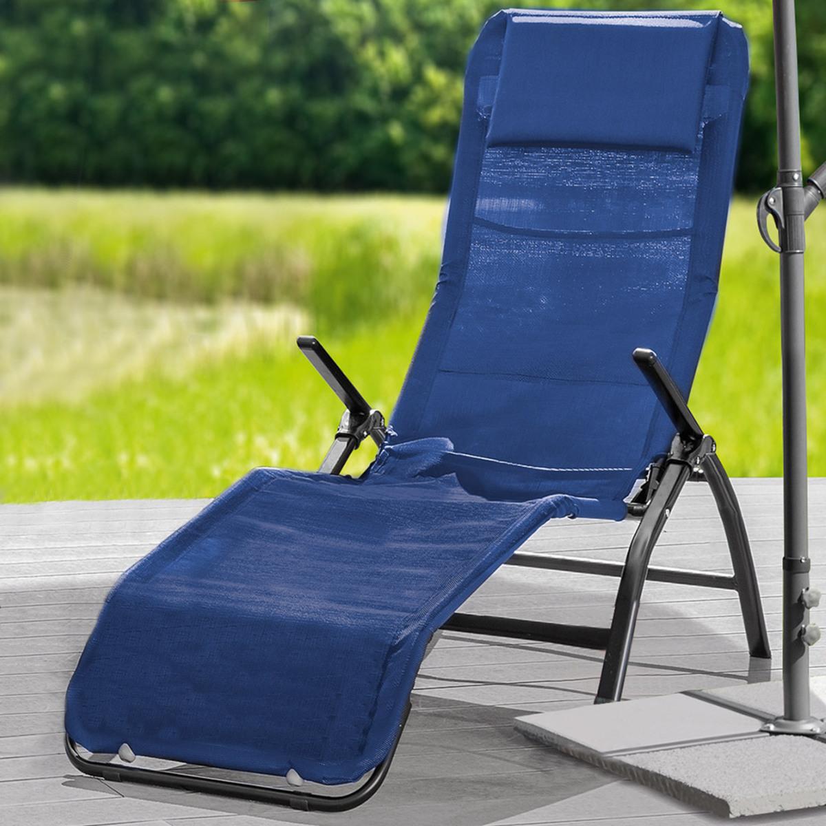 Bild 1 von Solax-Sunshine Garten- und Saunaliege, Blau