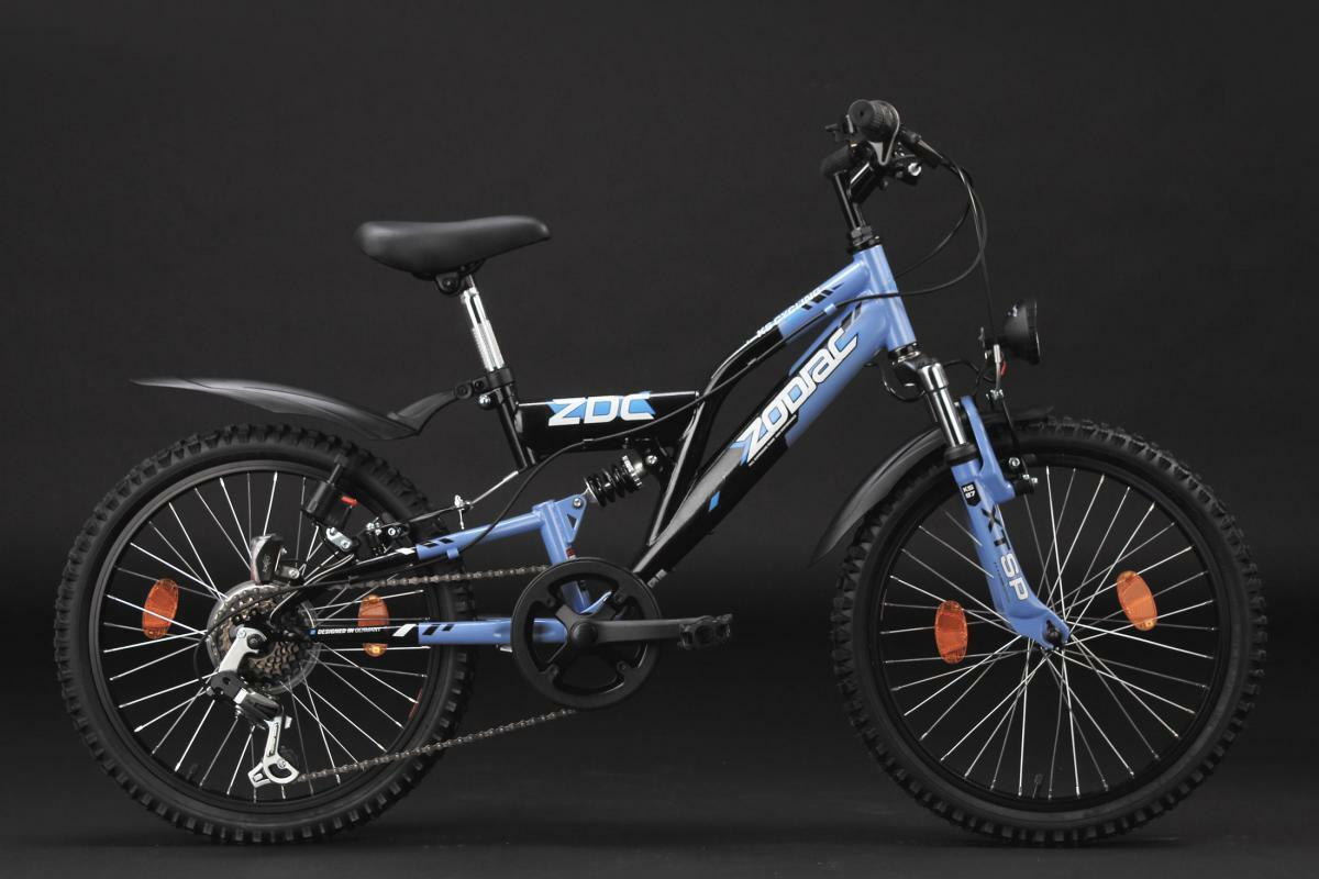 """Bild 2 von KS Cycling Kinderfahrrad Mountainbike Fully 20"""" Zodiac schwarz-blau"""