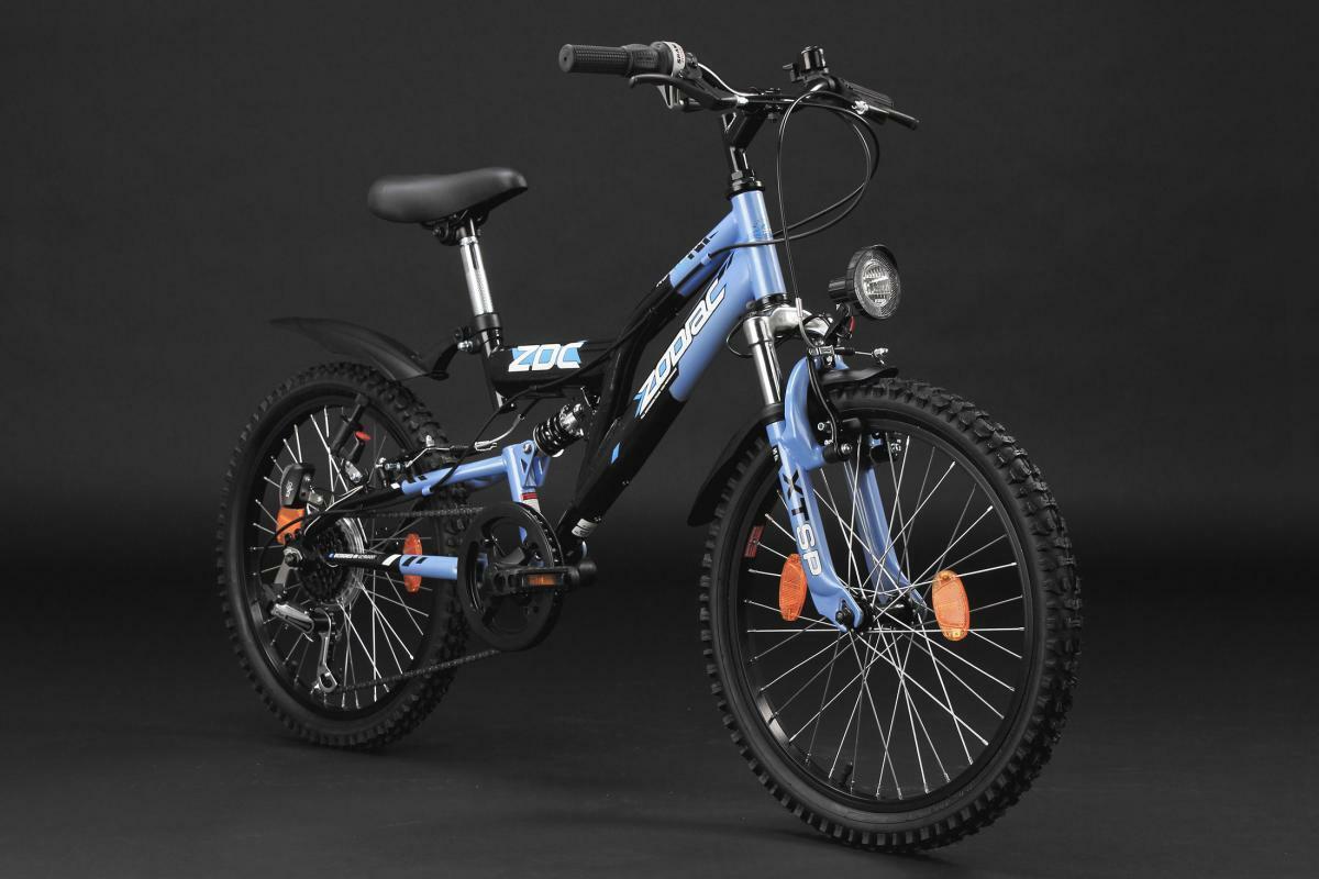 """Bild 3 von KS Cycling Kinderfahrrad Mountainbike Fully 20"""" Zodiac schwarz-blau"""
