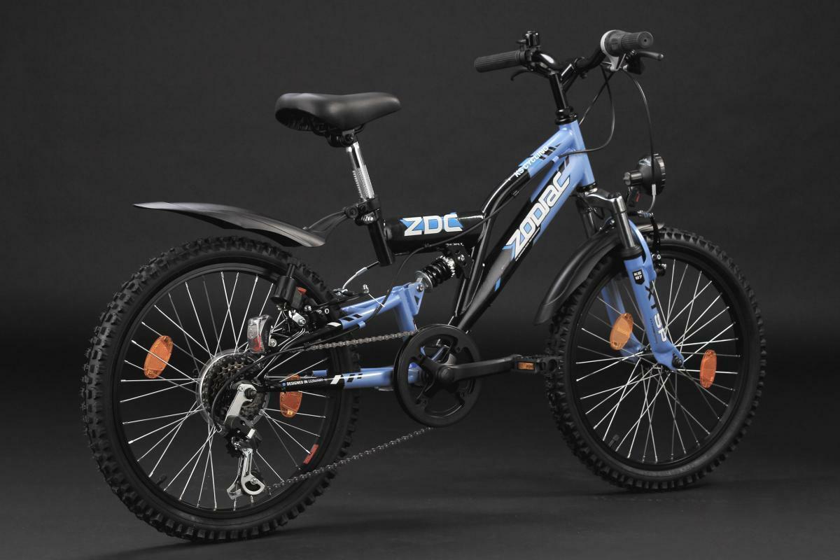 """Bild 4 von KS Cycling Kinderfahrrad Mountainbike Fully 20"""" Zodiac schwarz-blau"""