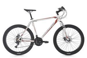 KS Cycling Mountainbike Hardtail MTB 26'' Sharp weiß-rot