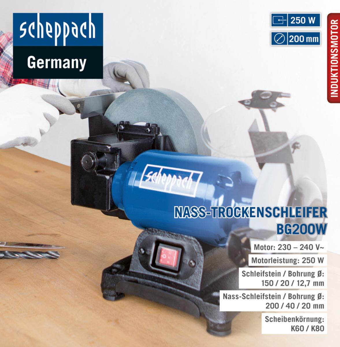 Bild 1 von Scheppach Schleifmaschine BG200W 250W 230V50Hz