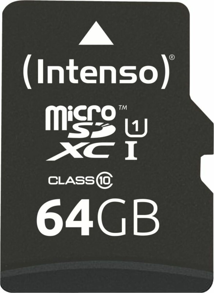Bild 2 von Intenso Micro SD Card 64GB UHS-I inkl. SD Adapter