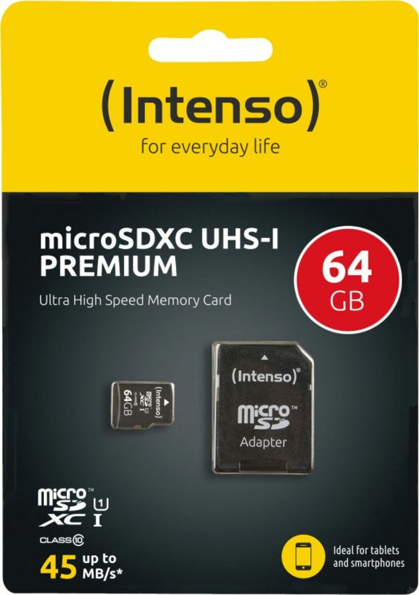Bild 3 von Intenso Micro SD Card 64GB UHS-I inkl. SD Adapter